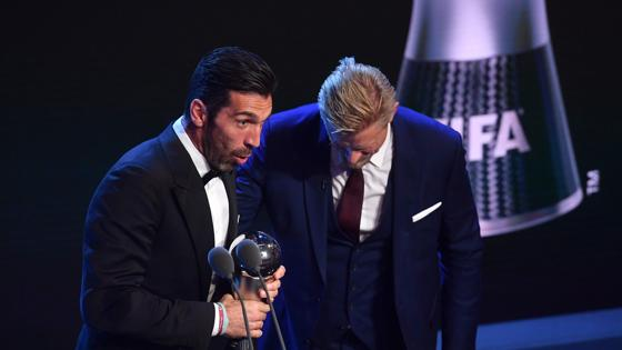 Buffon, ganador del Premio The Best al Mejor Portero