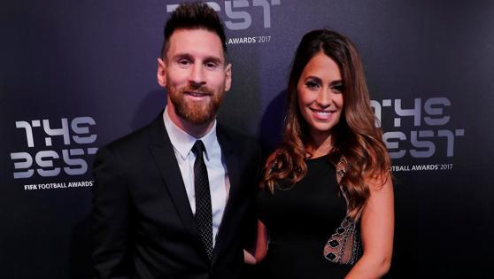 Messi y su mujer, Antonella Roccuzzo.