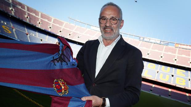 Julio Alberto, en el Camp Nou
