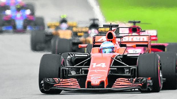 Fernando Alonso, durante una carrera del Mundial