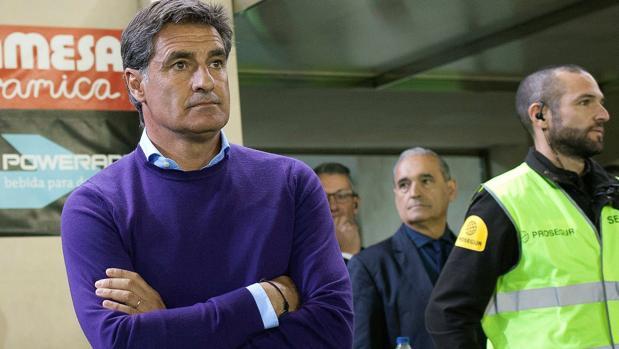 Míchel, durante un partido