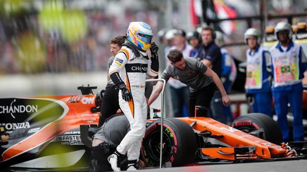 Fernando Alonso, durante la jornada del sábado en Interlagos