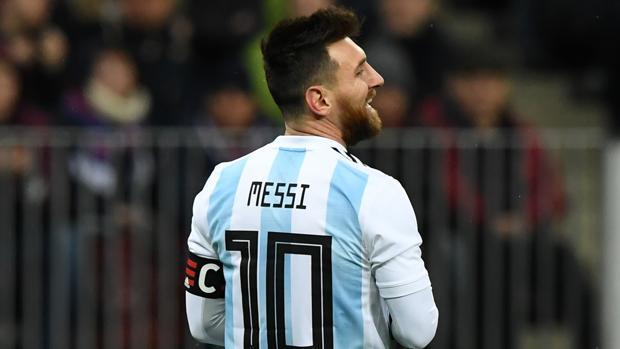 Leo Messi durante el partido disputado por Argentina