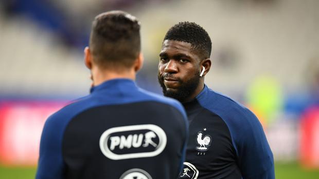 Samuel Umtiti durante la concentración con la selección francesa