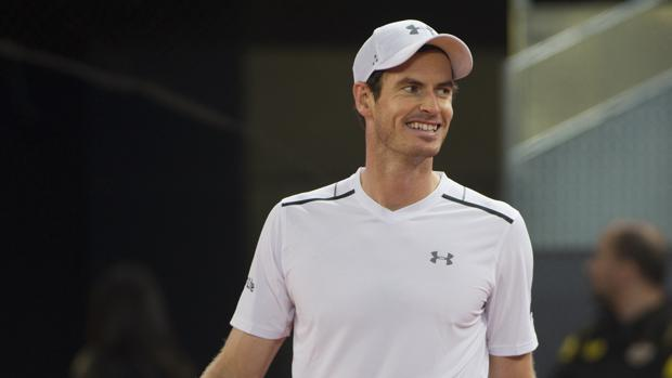 Andy Murray, durante un partido del Mutua Madrid Open