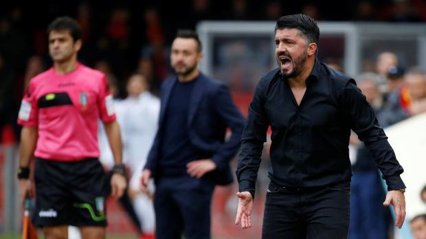 Gattuso, en el banquillo del Milán
