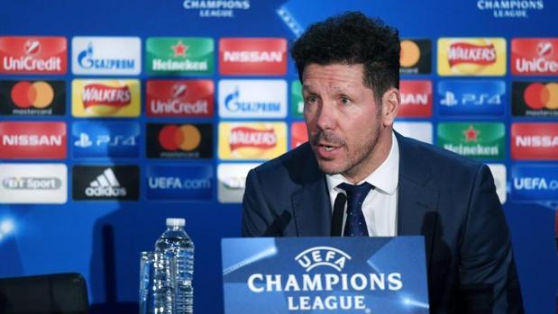 Diego Simeone, en la rueda de prensa previa al partido contra el Chelsea