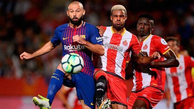 Javier Mascherano durante un partido
