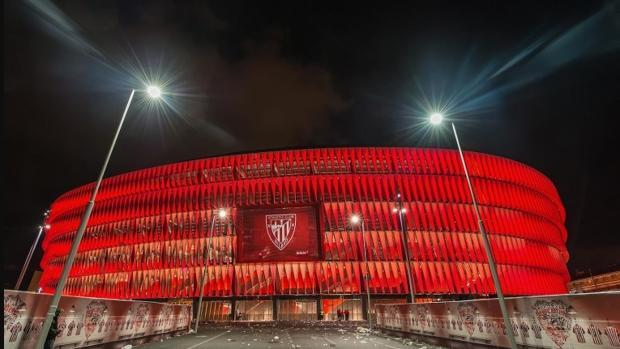 Exteriores del estadio de San Mamés, una de las sedes de la Eurocopa de 2020