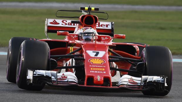 Kimi Raikkonen, durante el pasado GP de Abu Dabi