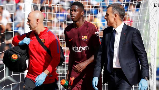 Dembélé se retira lesionado en el campo del Getafe