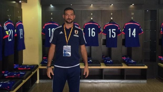 Ricardo, durante su etapa en el fútbol japonés