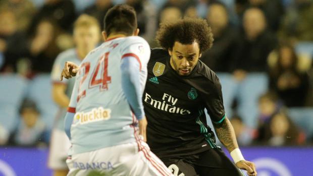 Marcelo, en un momento del partido ante el Celta