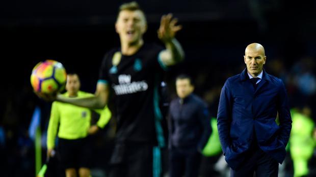Zidane, durante el partido contra el Celta