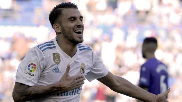 Dani Ceballos celebra un gol con el Real Madrid
