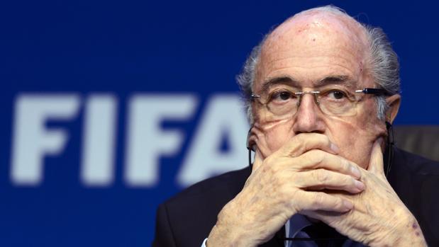 Joseph Blatter durante una comparecencia de prensa en 2016