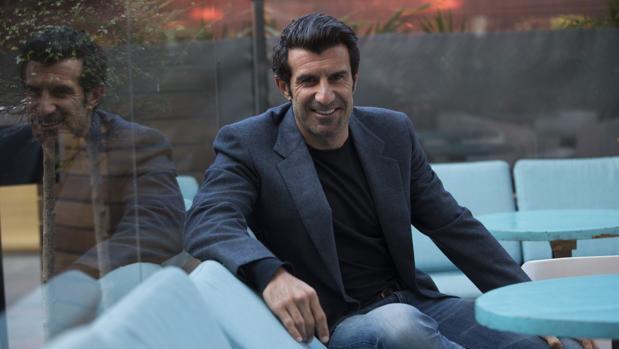 Luis Figo, durante una entrevista con ABC