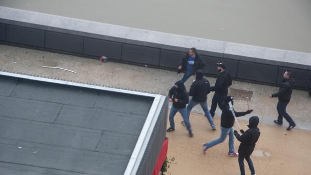 Imagen tomada durante la pelea que tuvo lugar entre ultras en 2014