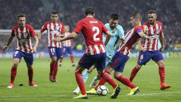 Imagen del último encuentro liguero entre el Atlético de Madrid y el Barcelona