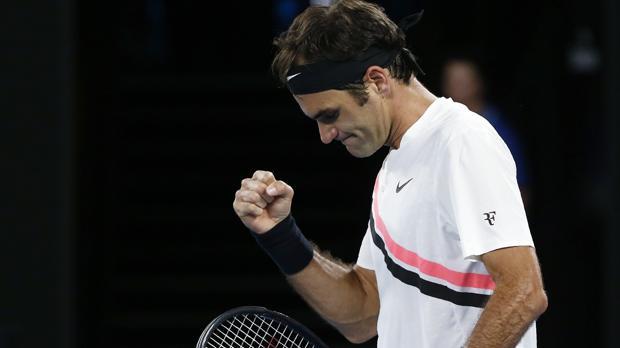 Roger Federer celebra el triunfo