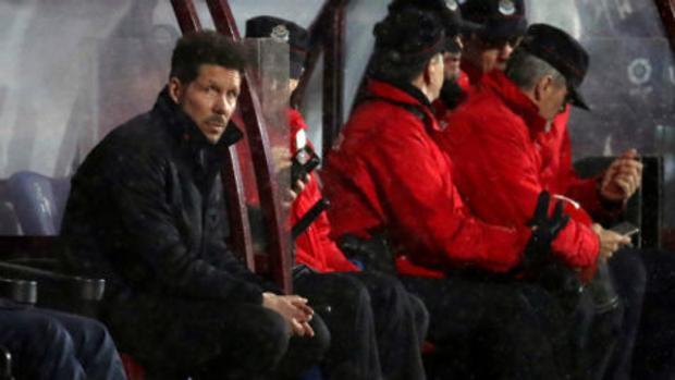 Simeone, durante el Eibar-Atlético