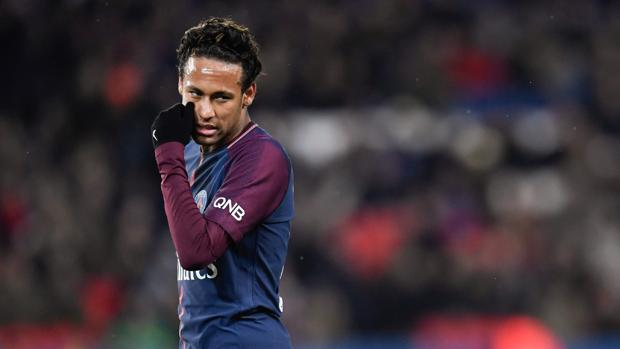 Neymar, durante el último partido de Liga del PSG ante el Dijon