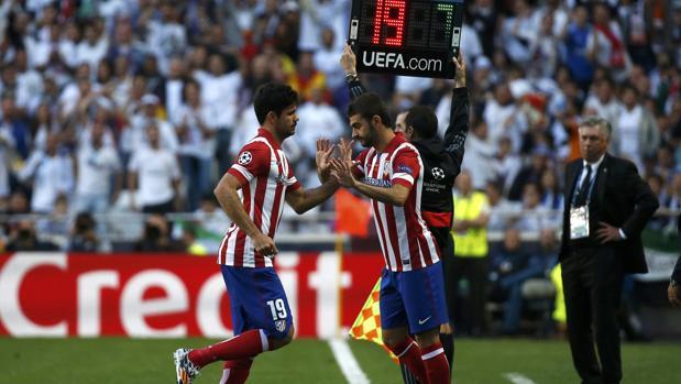Diego Costa es sustituido a los ocho minutos en la final de la Champions