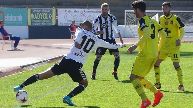 Partido entre la Balona y el Lorca Deportiva jugado este domingo