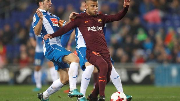 Rafinha, durante el último partido que jugó con el Barça, ante el español en Copa el pasado miércoles