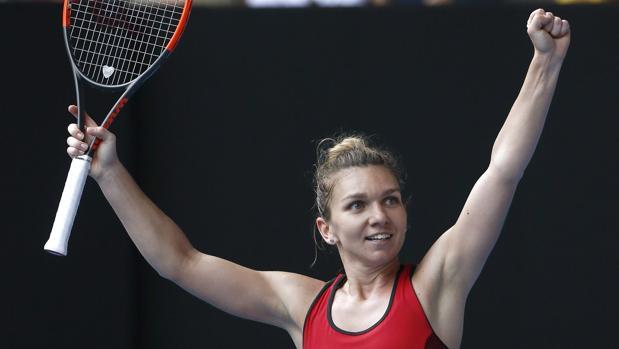Simona Halep, tras su victoria ante Kerber en Melbourne