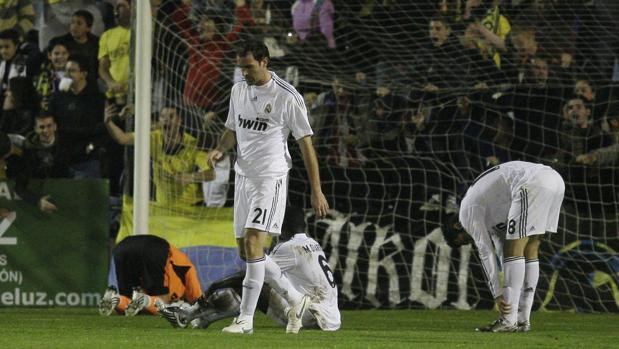 Cristoph Metzelder durante el partido que acabó 4-0 a favor del Alcorcón