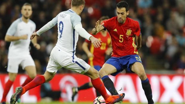 Inglaterra-España amistoso jugado en Wembley en noviembre de 2016