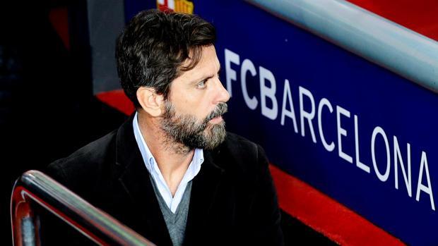 Quique Sánchez Flores durante el partido contra el Barcelona