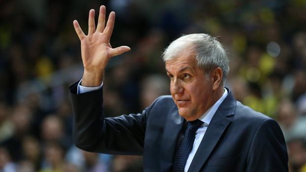 Zeljko Obradovic, durante un partido del Fenerbahçe