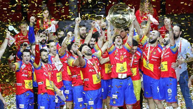 España celebra el título europeo