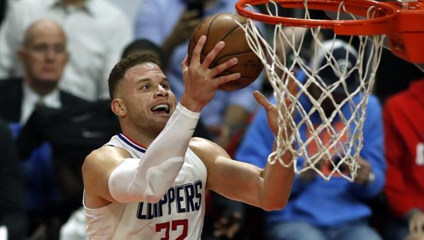 Blake Griffin, en uno de sus últimos partidos con los Clippers