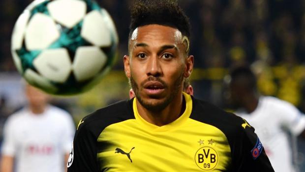Aubameyang, en un partido con el Dortmund