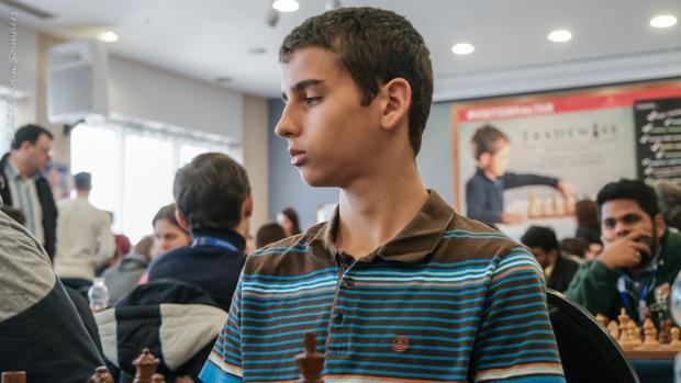 Una imagen del joven ajedrecista español Lance Henderson
