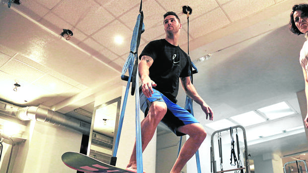 Lucas Eguibar, en su último entrenamiento en San Sebastián antes de partir a Pyeongchang