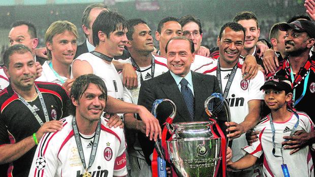 El Milan ganó cinco Copas de Europa bajo el mandato de Silvio Berlusconi, la última en 2007