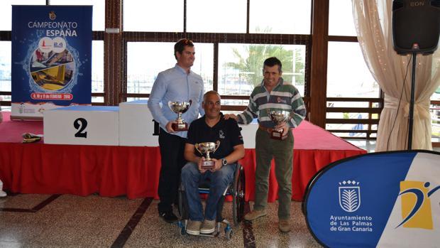 Rafael Andarias (CN Jávea), Borja Megarejo (Pto.Sherry) y Jordi Cargol (CN Palamos) son los tres primeros clasificados del Cto. De España de 2.4 mR