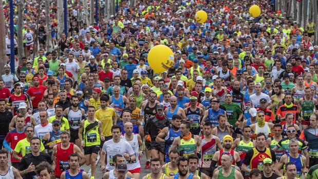 Corredores en el Zurich Maratón de Sevilla 2017