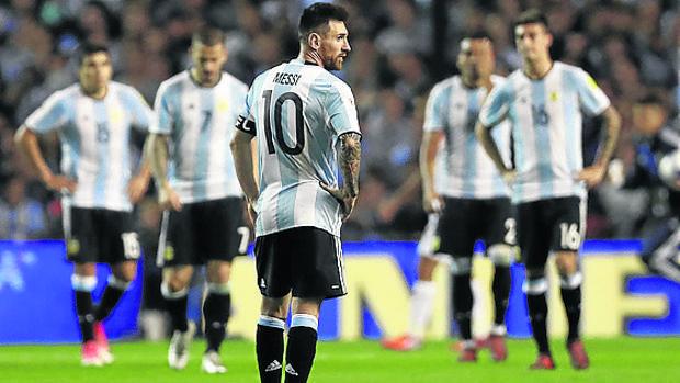 Leo Messi, durante un partido con la selección argentina
