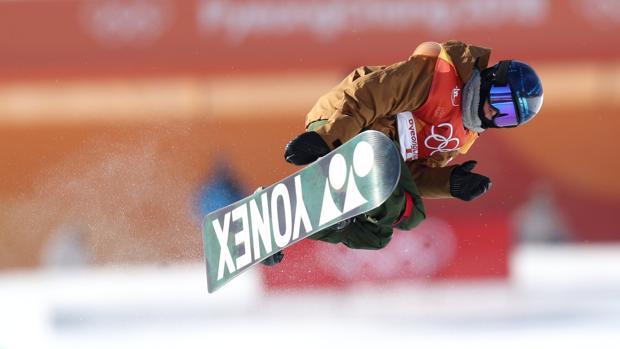Castellet, durante la final de snowboard halfpipe