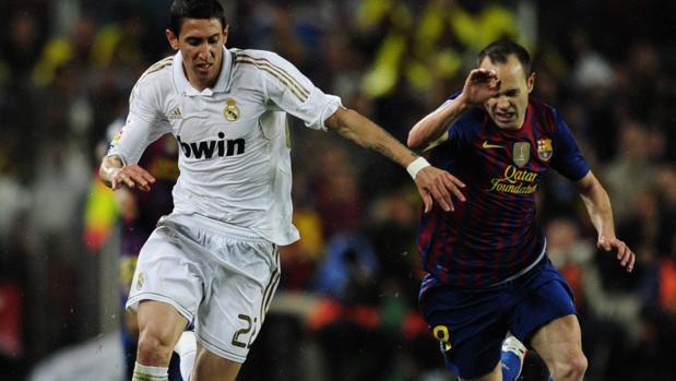 Ángel Di María durante un Clásico con el Real Madrid