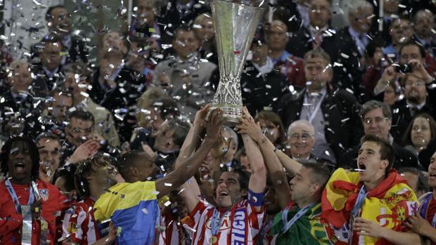 El Atlético ganó la Europa Legaue en 2010 en la final jugada en Hamburgo ante el Fulham