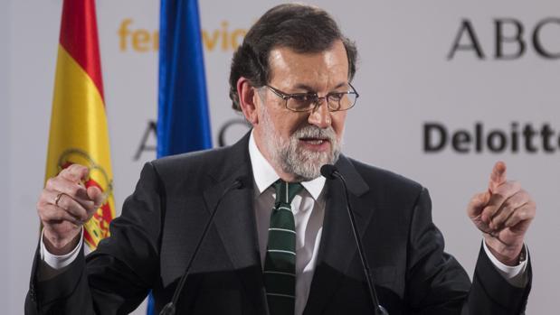 Mariano Rajoy, en el Foro ABC el pasado 8 de febrero