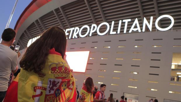Fotografía del Estadio Wanda Metropolitano un día de partido