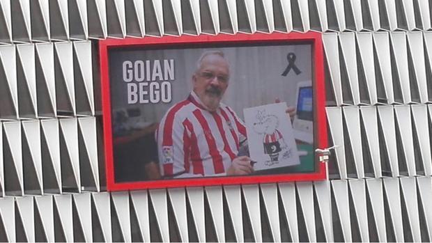 El Athletic homenajea a Forges en la pantalla del estadio San Mamés
