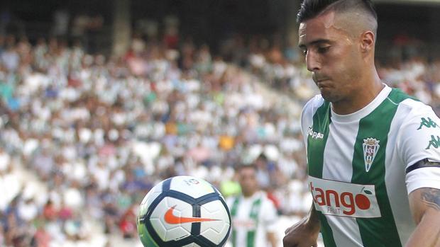 El delantero del Córdoba CF Sergi Guardiola